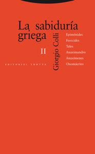 La Sabiduria Griega Ii - Colli Giorgio