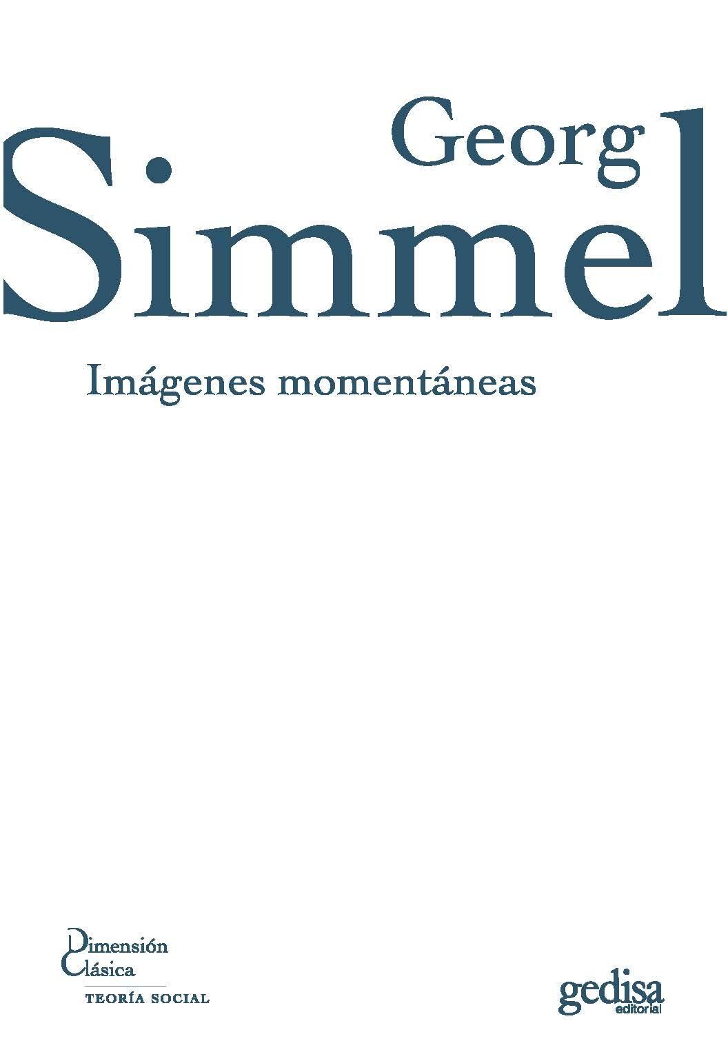 Imagenes Momentaneas - Simmel Georg