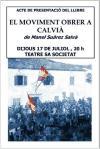 El Moviment Obrer A Calvia (1923-1936) - Salva Suarez Manuel