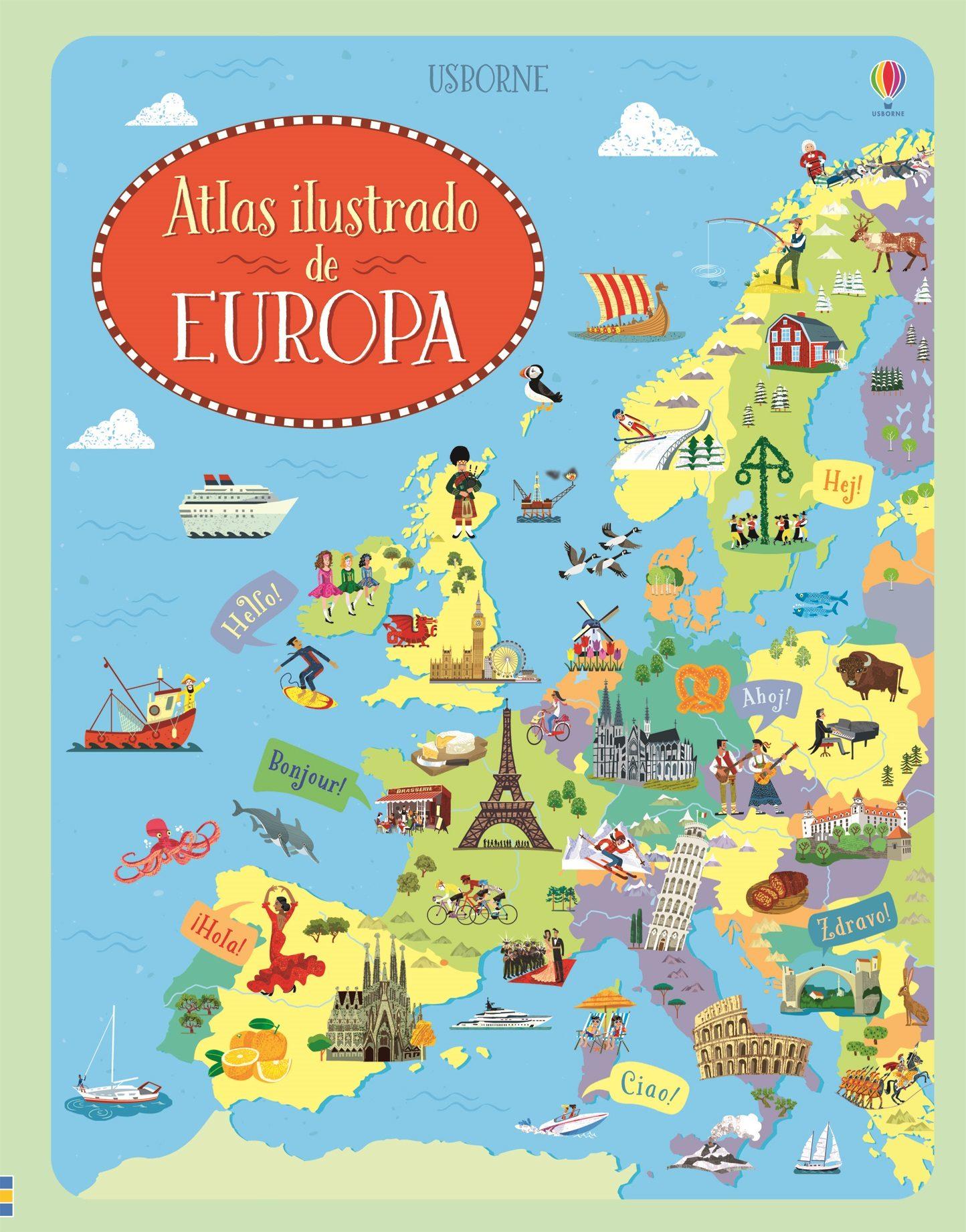 Atlas Ilustrado De Europa - Vv.aa.