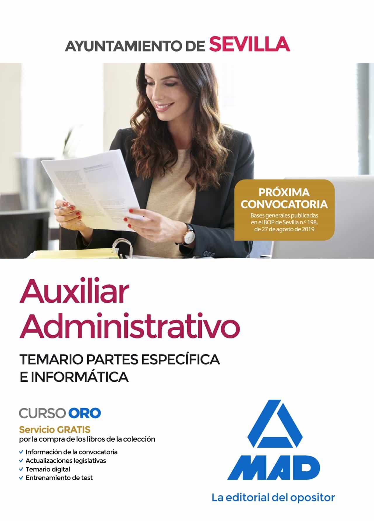 Auxiliar Administrativo Del Ayuntamiento De Sevilla. Temario Partes Es - Vv.aa.