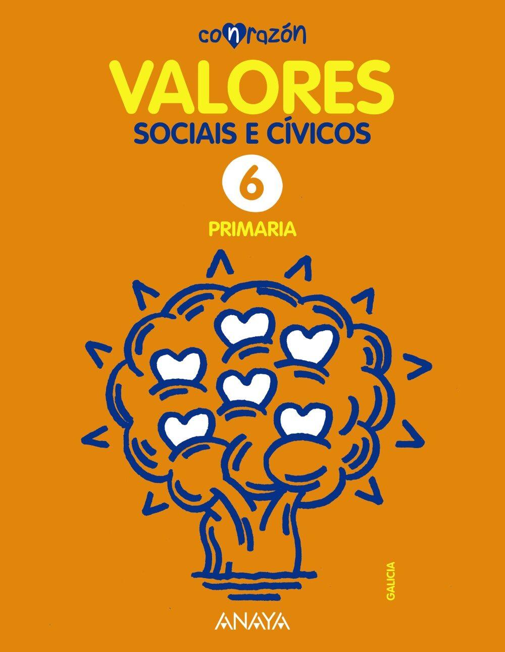 Valores Sociais E Cívicos 6º Educacion Primaria Galicia - Vv.aa.