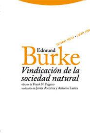 Vindicacion De La Sociedad Natural - Burke Edmund