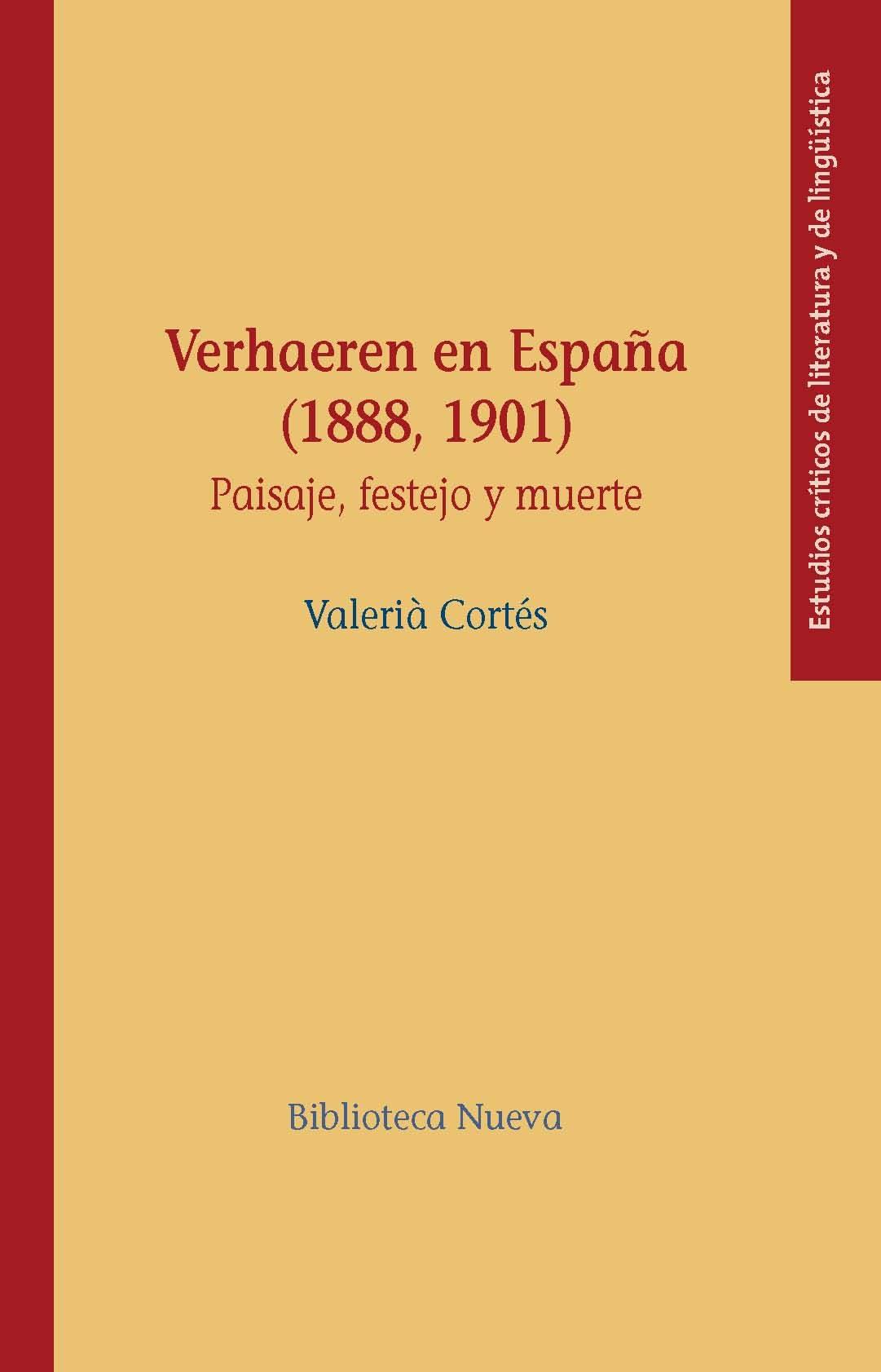 Verhaeren En España (1888 1901) - Cortes Valeria