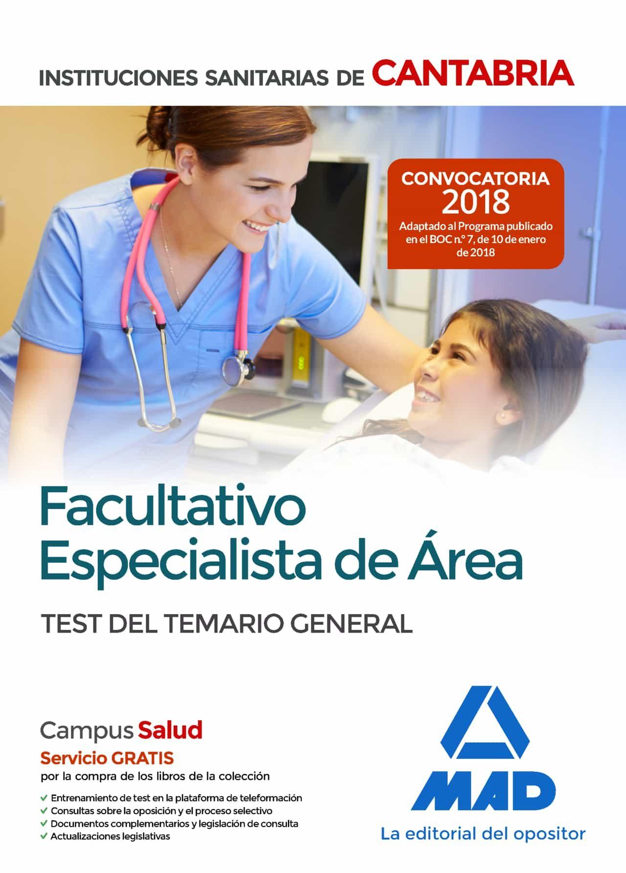 Facultativo Especialista De Area De Las Instituciones Sanitarias De Ca - Vv.aa.