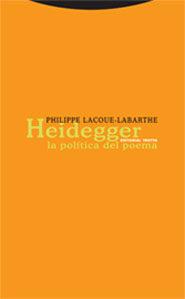 Heidegger. La Politica Del Poema - Lacoue-labarthe Philippe