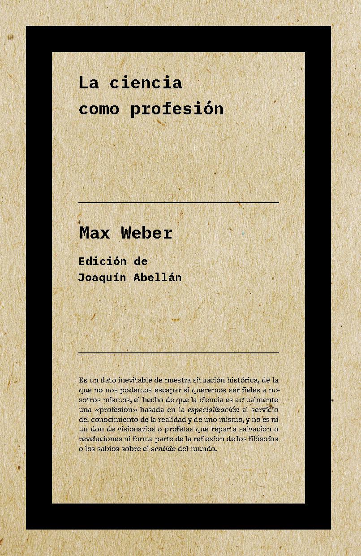 La Ciencia Como Profesión - Weber Max