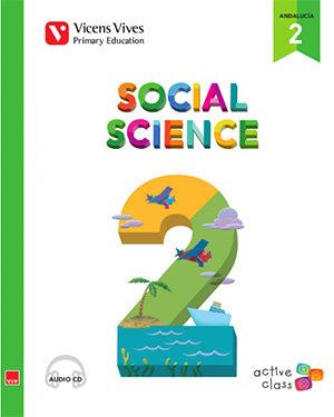 Social Science 2º Educacion Primaria +cd Andalucia 15 Aula Activa - Vv.aa.