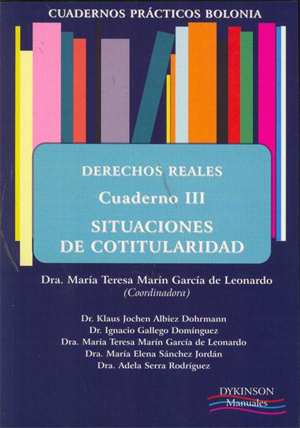 Derechos Reales Cuaderno Iii Situaciones De Cotitularidad - Marin Garcia De Leonardo Mª Teresa