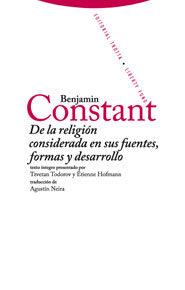 De La Religion Considerada En Sus Fuentes Formas Y Desarrollo - Rebecque Benjamin Constant De