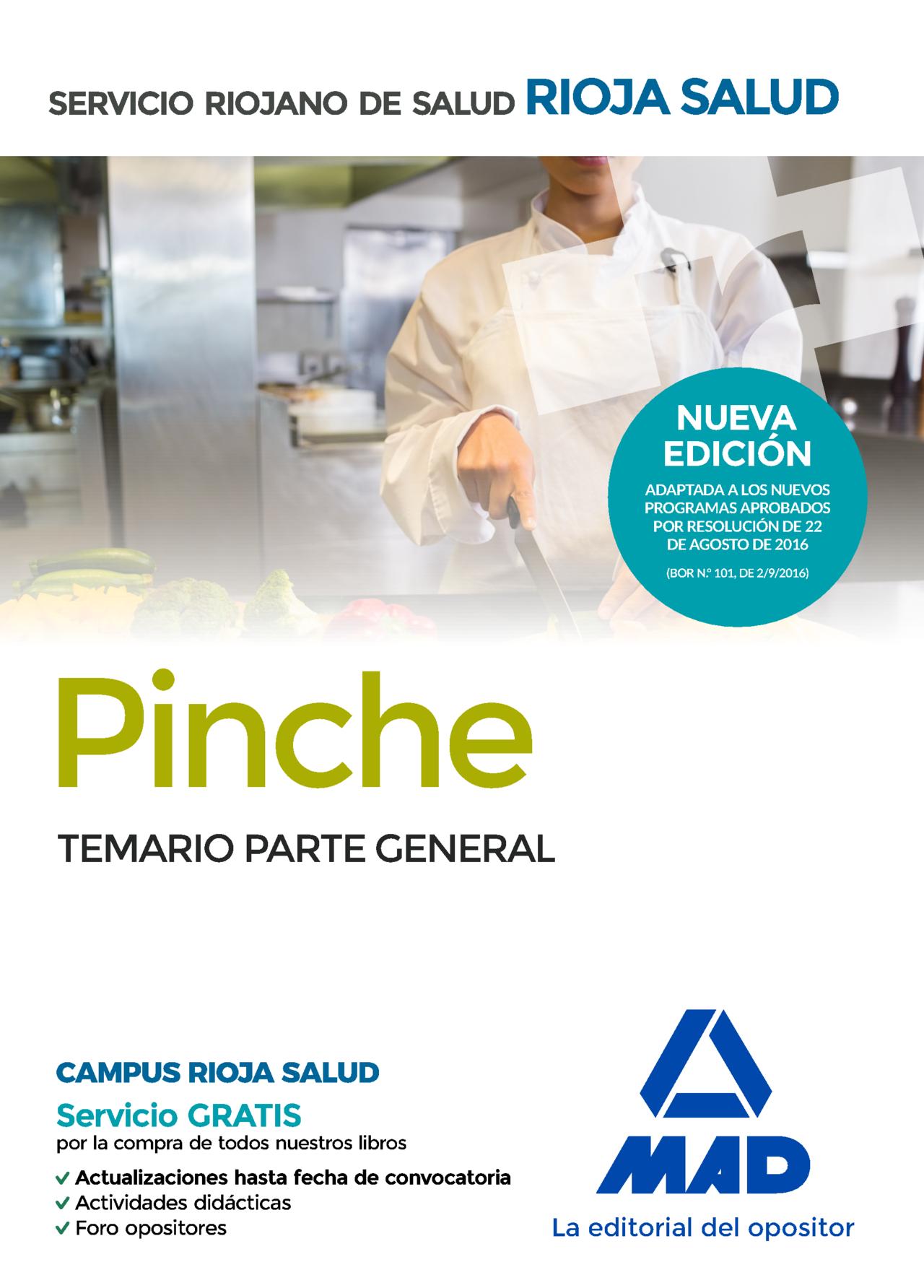 Pinches Del Servicio Riojano De Salud. Temario Parte General - Vv.aa.