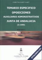Oposiciones Auxiliares Administrativos Junta De Andalucia (d-100 ). Te - Alvarez Alvarez Florentina