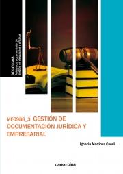 Mf0988 Gestion De Documentacion Juridica Y Empresarial - Martinez Candil Ignacio