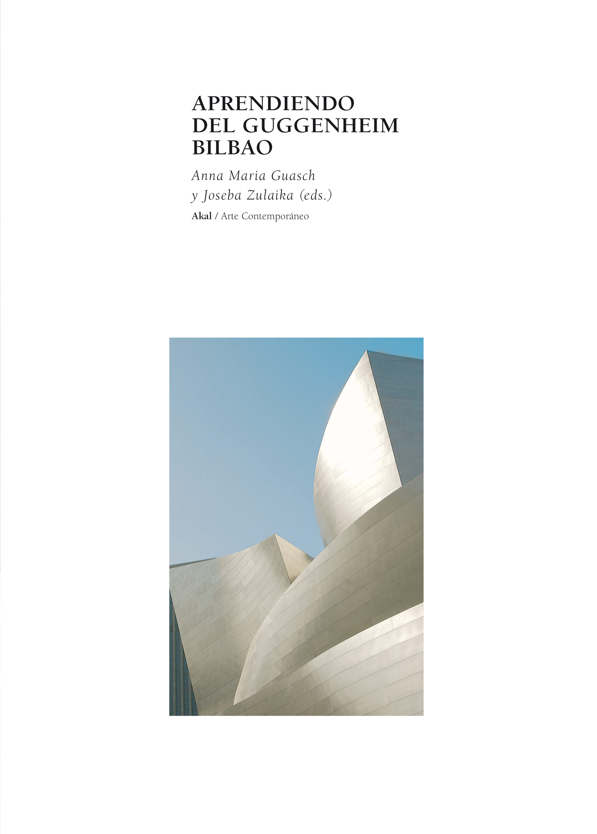 Aprendiendo Del Guggenheim Bilbao - Zulaika Irureta Joseba