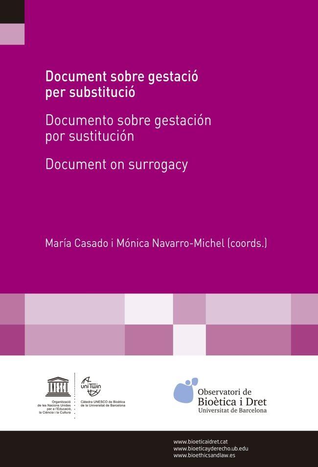 Document Sobre Gestacio Per Substitucio - Vv.aa.