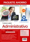 9788414210307 - Vv.aa.: Paquete Ahorro Administrativo Del Estado (turno Libre): Ahorro De 84 ¤ - Libro