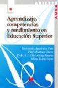 APRENDIZAJE, COMPETENCIAS Y RENDIMIENTO EN EDUCACION SUPERIOR di VV.AA.