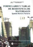 FORMULARIO Y TABLAS DE RESISTENCIA DE MATERIALES di HERRRERA NAVARRO, IGANCIO