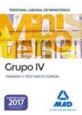 9788414207628 - Vv.aa.: Personal Laboral De Ministerios Grupo Iv. Temario Y Test Parte Co Mun - Libro