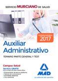9788414202630 - Vv.aa.: Auxiliar Administrativo Del Servicio Murciano De Salud. Temario Parte - Libro