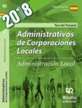 9788416963256 - Vv.aa.: Administrativos De Corporaciones Locales: Test Del Temario - Libro