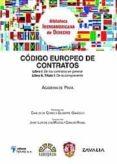 CODIGO EUROPEO DE CONTRATOS DE LA ACADEMIA DE PAVIA di DE CORES, CARLOS  GANDOLFI, GIUSEPPE