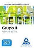 9788414207871 - Vv.aa.: Personal Laboral De Ministerios Grupo Ii. Test Parte Común - Libro