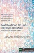 MATEMATICAS DE LAS CIENCIAS SOCIALES di VV.AA.