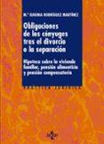 LAS OBLIGACIONES DE LOS CONYUGES TRAS EL DIVORCIO O LA SEPARACION : HIPOTECA SOBRE LA VIVIENDA FAMILIAR, PENSION ALIMENTICIA Y PENSION COMPENSATORIA di RODRIGUEZ MARTINEZ, Mª EUGENIA