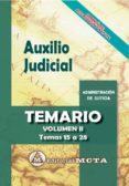 AUXILIO JUDICIAL (VOL. II): TEMARIO de RAMOS CEJUDO, JOSE LUIS # SEGURA RUIZ, MANUEL