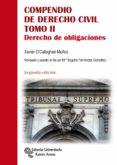 COMPENDIO DE DERECHO CIVIL TOMO II: DERECHO DE OBLIGACIONES di O CALLAGHAN MUÑOZ, XAVIER