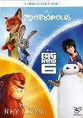 Comprar PACK CHICOS ZOOTROPOLIS - BIG HERO - REY LEON - DVD -