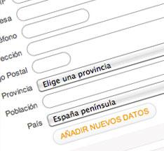 Rellena el formulario necesario para poder activar el servicio